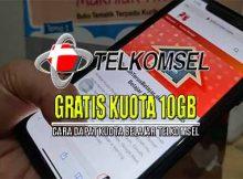 Cara Mendapatkan kuota 10GB dari telkomsel hanya 10