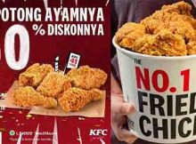 KFC diskon 50 persen
