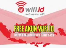 Daftar Akun wifi id gratis bulan november 2020