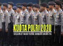Kuota penerimaan POLRI 2020