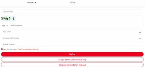 Aplikasi Totole cara daftar