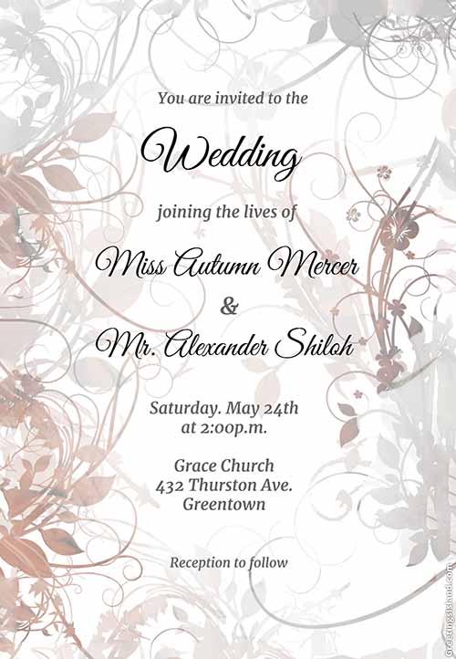 Contoh wedding card