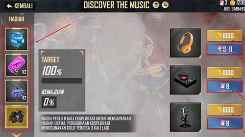 Discover The Music Free fire