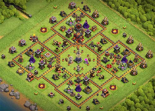 elixir and gold protection layout town hall 10